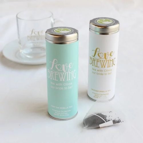 Tea Bridal Shower Personalized Tea Tins