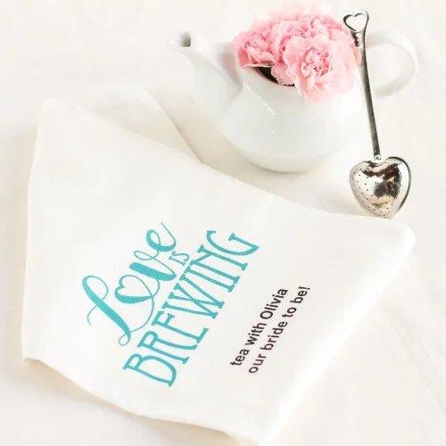 Personalized Tea Towel Tea Bridal Shower Idea