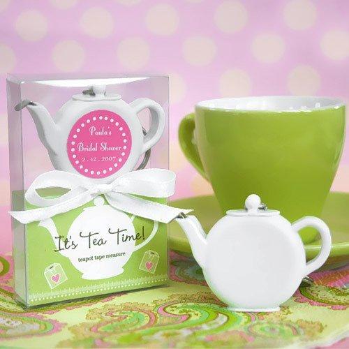 Personalized Teapot Tape Measure Tea Bridal Shower Idea