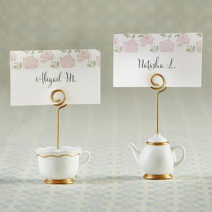 Tea Bridal Shower Teapot & Cup Place Card Holders