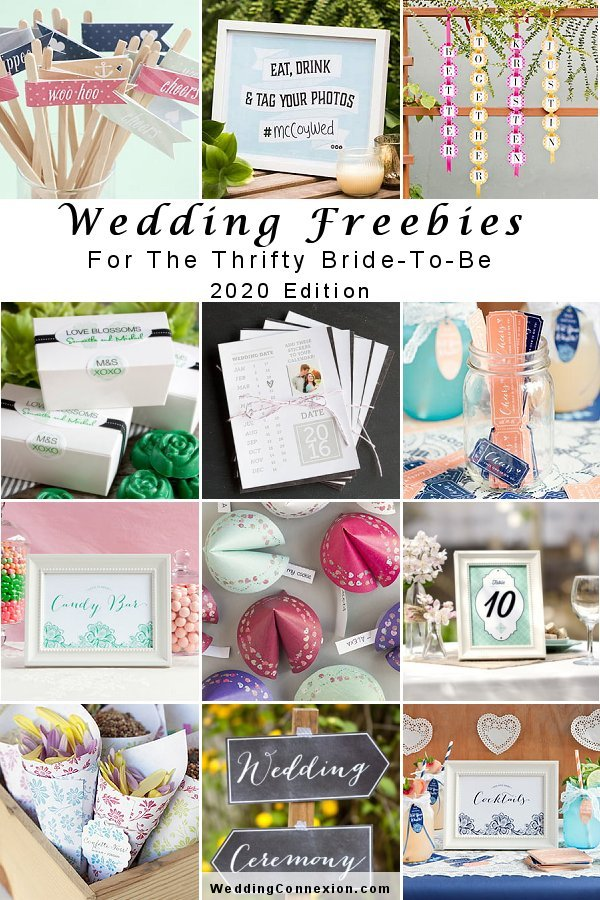 Save money for your wedding with our guide to Wedding Freebie 2020 Edition - WeddingConnexion.com