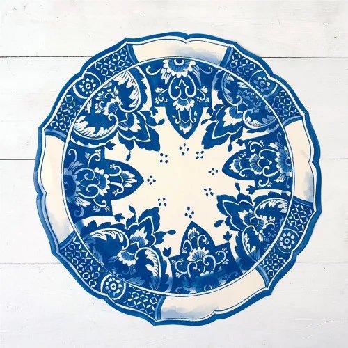 Garden wedding China Blue Die Cut Placemat Sheets
