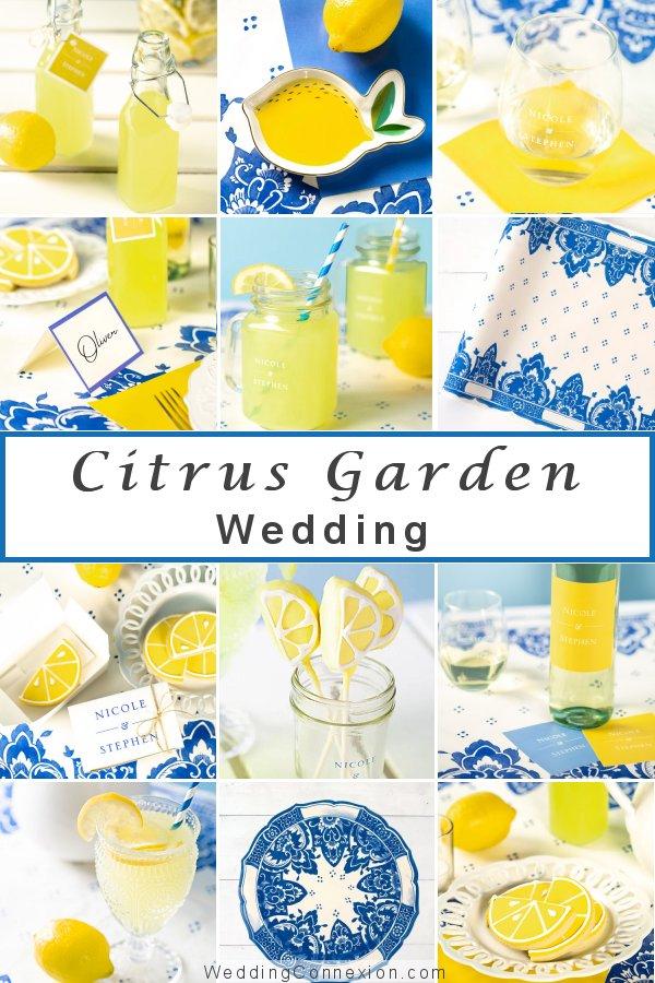Citrus themed garden wedding decor and favor ideas - WeddingConnexion.com