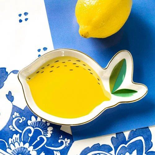 Citrus Garden Wedding Lemon Shaped Trinket Tray