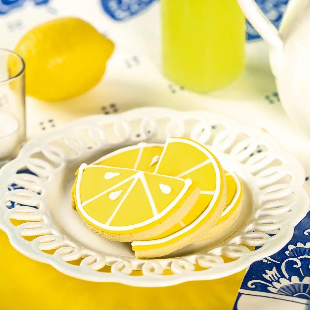Citrus Garden Wedding Theme Lemon Slice Cookies