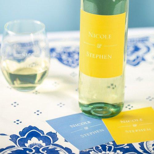 Garden Wedding Personalized Wine Labels
