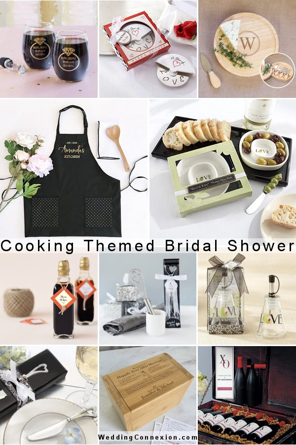 Find great ideas for planing a successful cooking themed bridal shower at WeddingConnexion.com