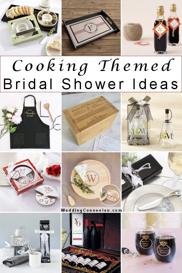Discover unique ideas to plan a successful cooking themed bridal shower at WeddingConnexion.com
