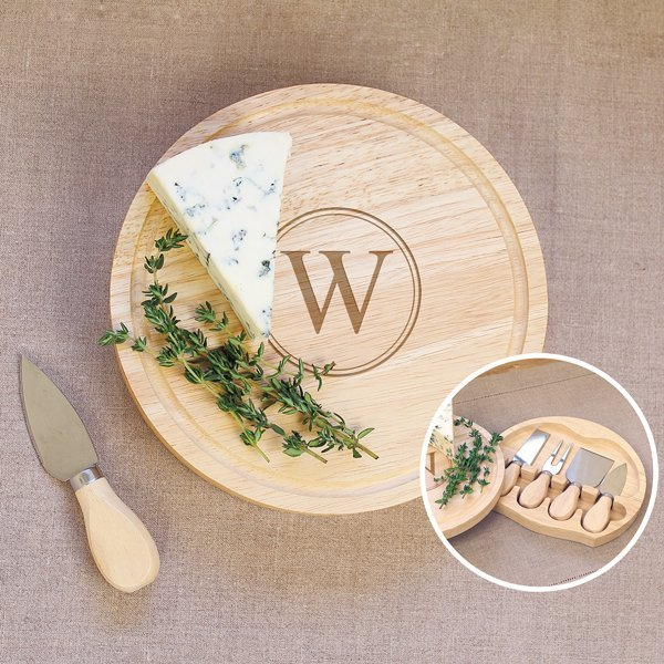 This practical cheese board set makes for a lovely gift idea for the bride at a bridal shower.