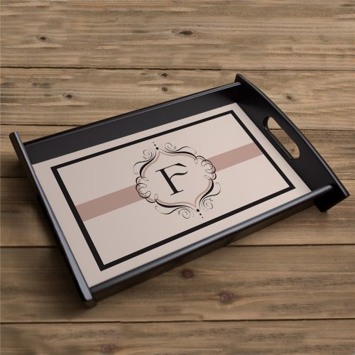 This personalized monogram serving tray makes for a unique gift to the bride-to-be.