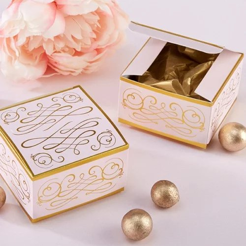 Romantic Square Favor Boxes