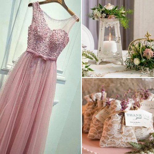 Vintage Romantic Pink Wedding Theme