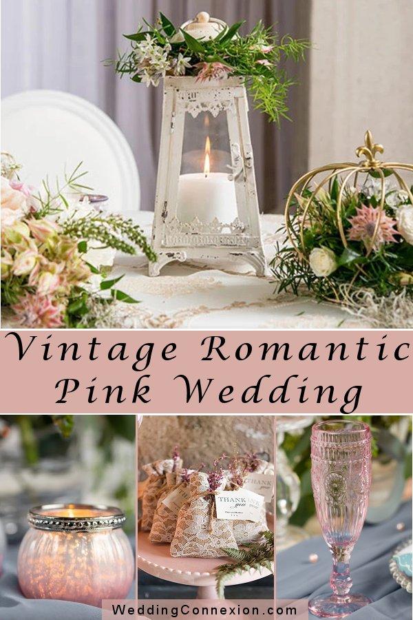 Romantic Vintage Pink Wedding Theme Inspiration