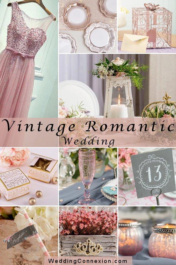 Unique Vintage Romantic Pink Wedding Theme Decor Ideas