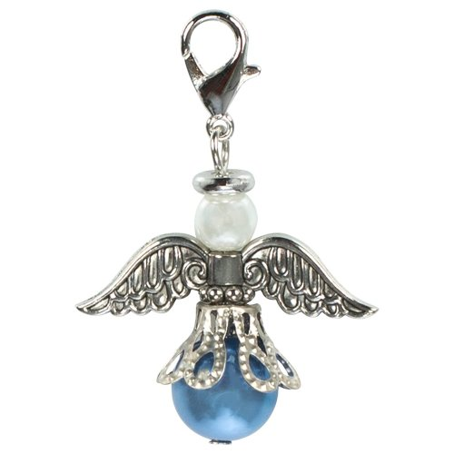 An Angel For The Bride Bouquet Charm Something Blue Wedding Idea