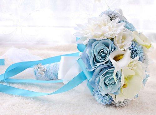 Romantic Blue Bridal Bouquet