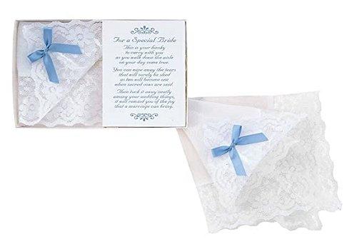 Bride's Blue Bow Hanky