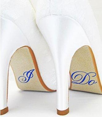 Hologram 'I Do' Shoe Stickers Something Blue Wedding Ideas