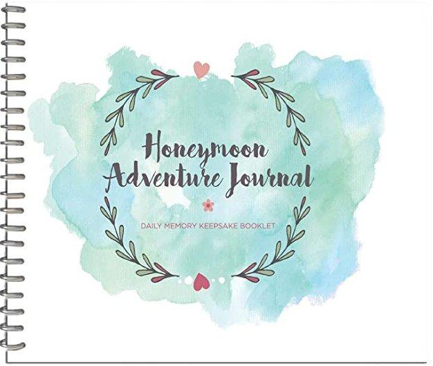 Honeymoon Adventure Journal Couple Bridal Shower Gift Idea