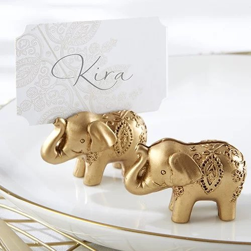 Lucky Gold Elephant Place Card Holder Practical Wedding Favors