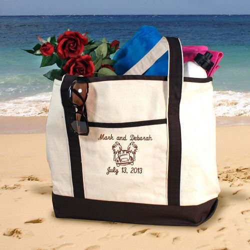 Personalized Beach Tote Bag Honeymoon Couple Bridal Shower Gift Ideas