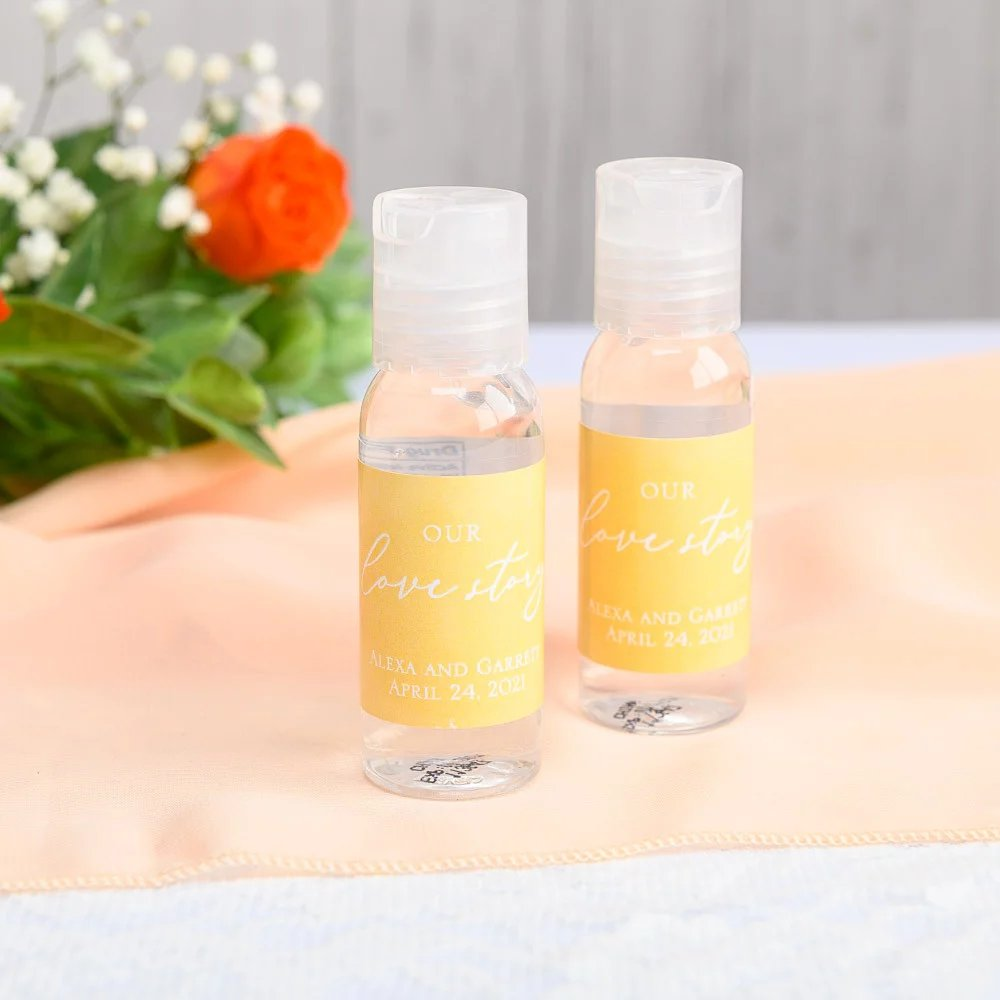 Personalized Hand Sanitizer Practical Wedding Favors