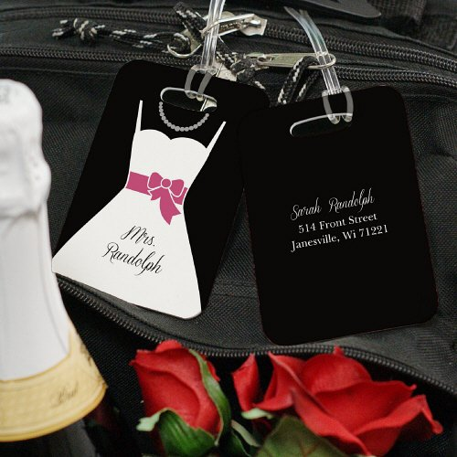 Personalized Bag Tag Honeymoon Couple Bridal Shower Gift Ideas