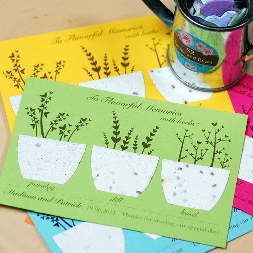 Plantable Herbs Seed Cards Practical WeddingFavors
