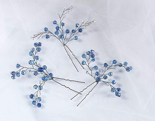 Something Blue Hair Pin Wedding Idea