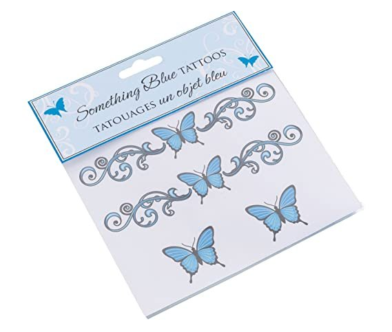 Something Blue Temporary Butterfly Tattoos