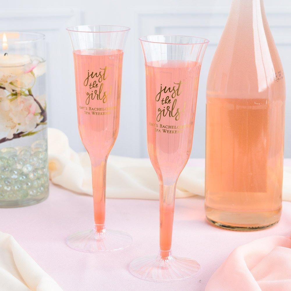 Personalized Plastic Champagne Flutes
