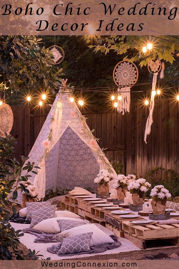 Boho Chic Wedding Lace Teepee Decor - WeddingConnexion.com