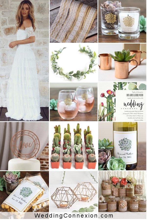 Boho Chic Wedding Decor And Favor Ideas  | WeddingConnexion.com