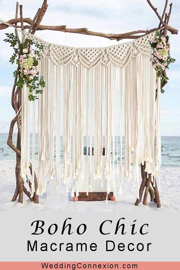 Boho Chic Macrame Handmade Wedding Decor  | WeddingConnexion.com
