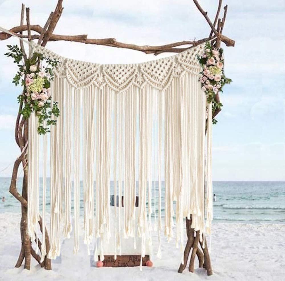 Boho Handmade Macrame Wedding Hanger Decor