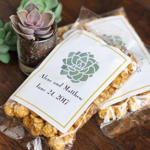 Boho Chic Desert Personalized Caramel favors