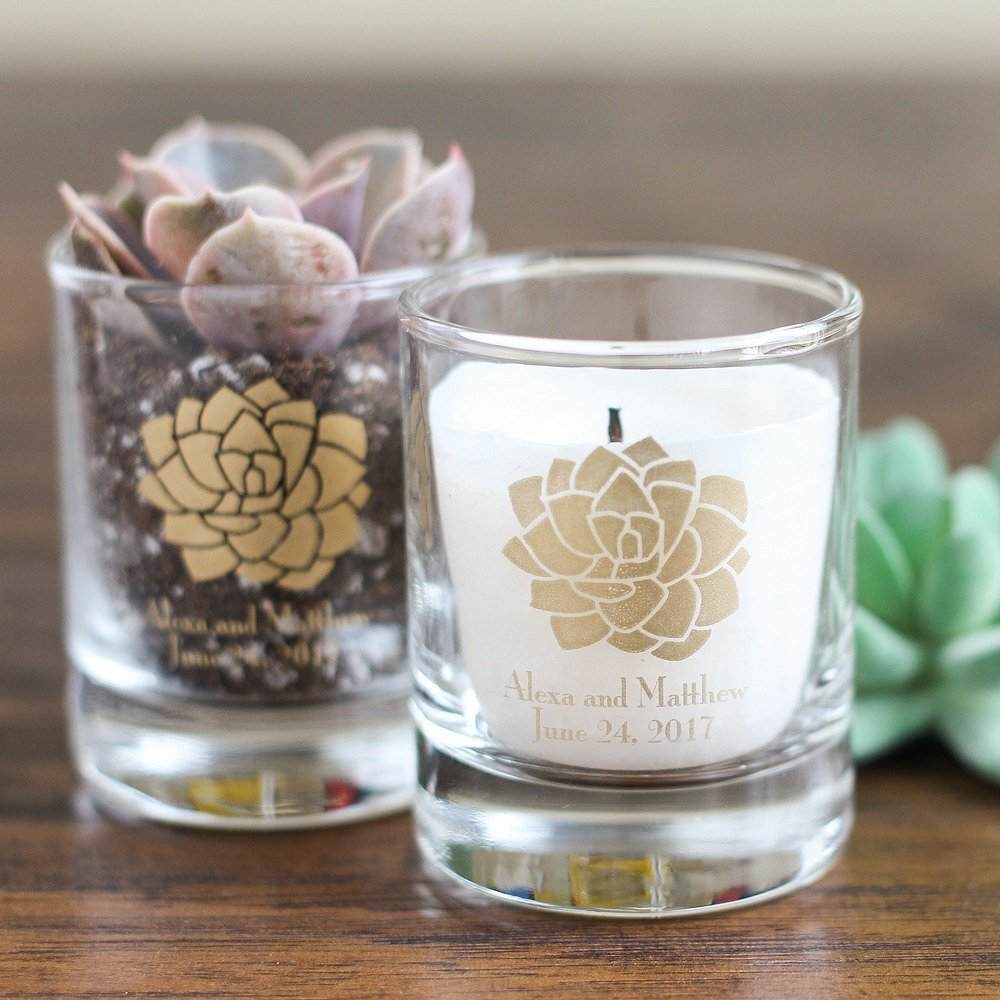 Boho Chic Desert Personalized Shot Glass Votive Holder favors