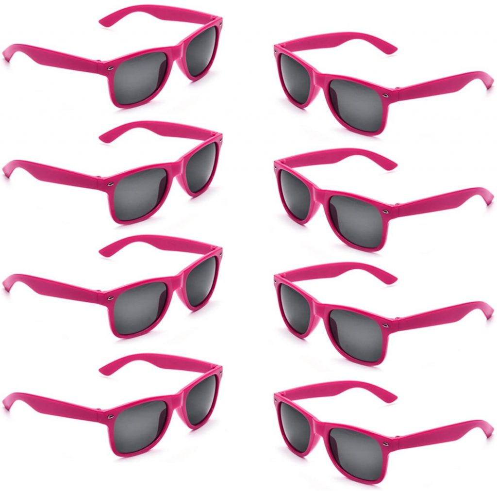 Neon Pink Sunglasses for bachelorette pool party favors