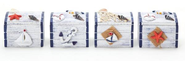 Beach Themed Accent Wooden Boxes