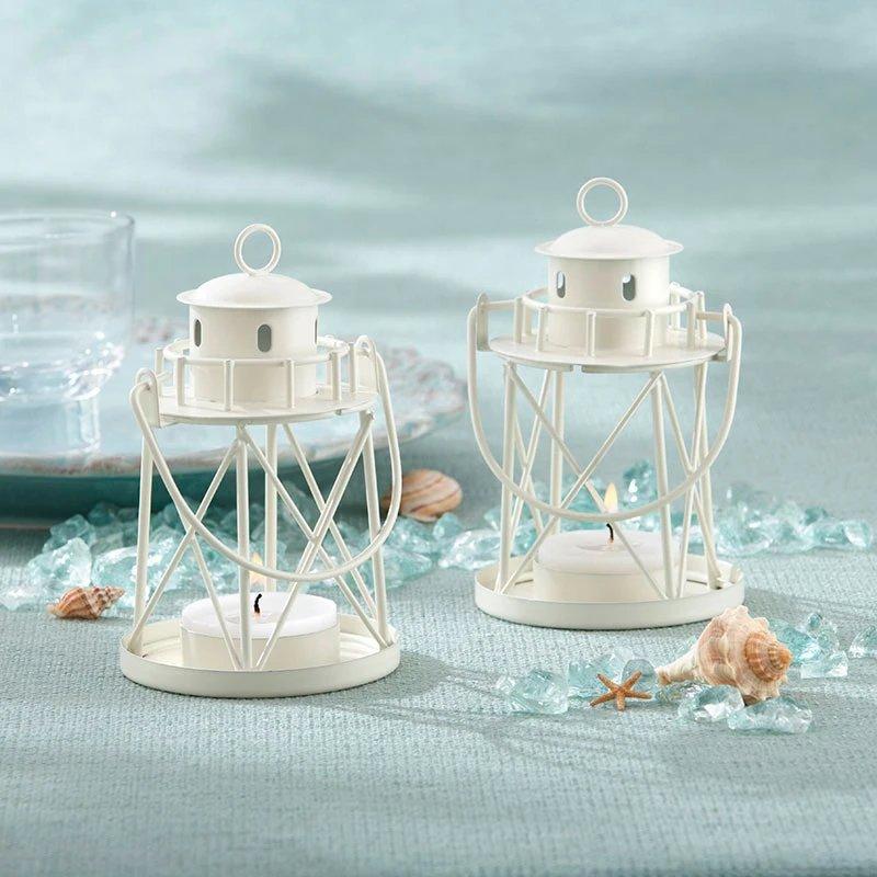 Lighthouse Tea light Holder Beach Wedding Table Decor Idea