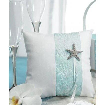 Beach Wedding Seaside Ring Pillow