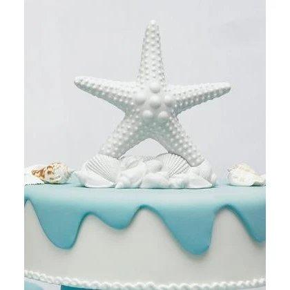 Beach Wedding Starfish Cake Topper