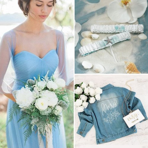 Blue And Breezy Beach Wedding Ideas