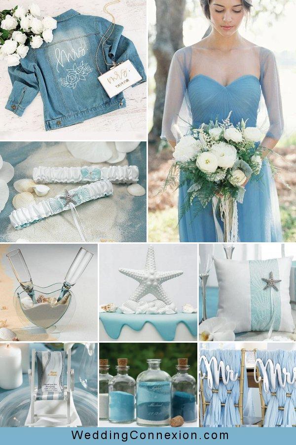 Blue & Breezy Beach Wedding Ideas   WeddingConnexion.com