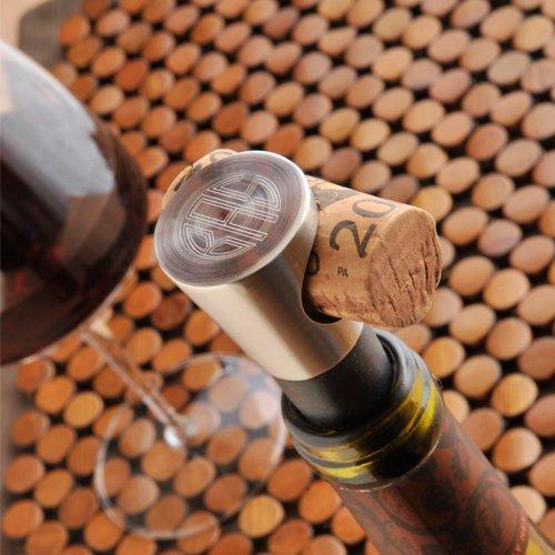 Monogrammed Vintage Wine Bottle Stopper