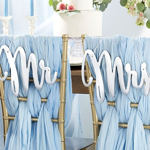 Mr. & Mrs. Chair Sign Wedding Decor Idea