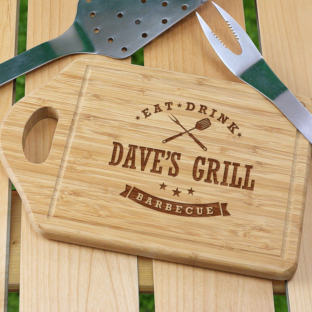 This personalized cutting board for groomsmen that love cooking