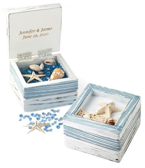 Starfish Wedding Favor Trinket Box