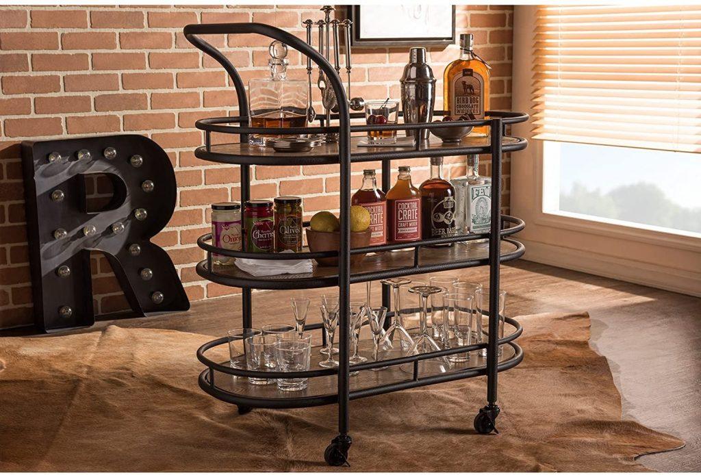Bar Serving Cart Stock The Bar Wedding Shower Gift Idea
