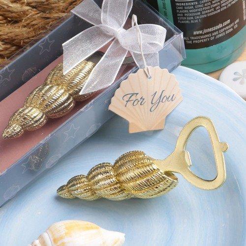 Gold Conch Seashell Bottle Opener Favors